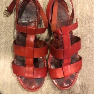 "J. Crew ""Olympia Leather Sandal"""